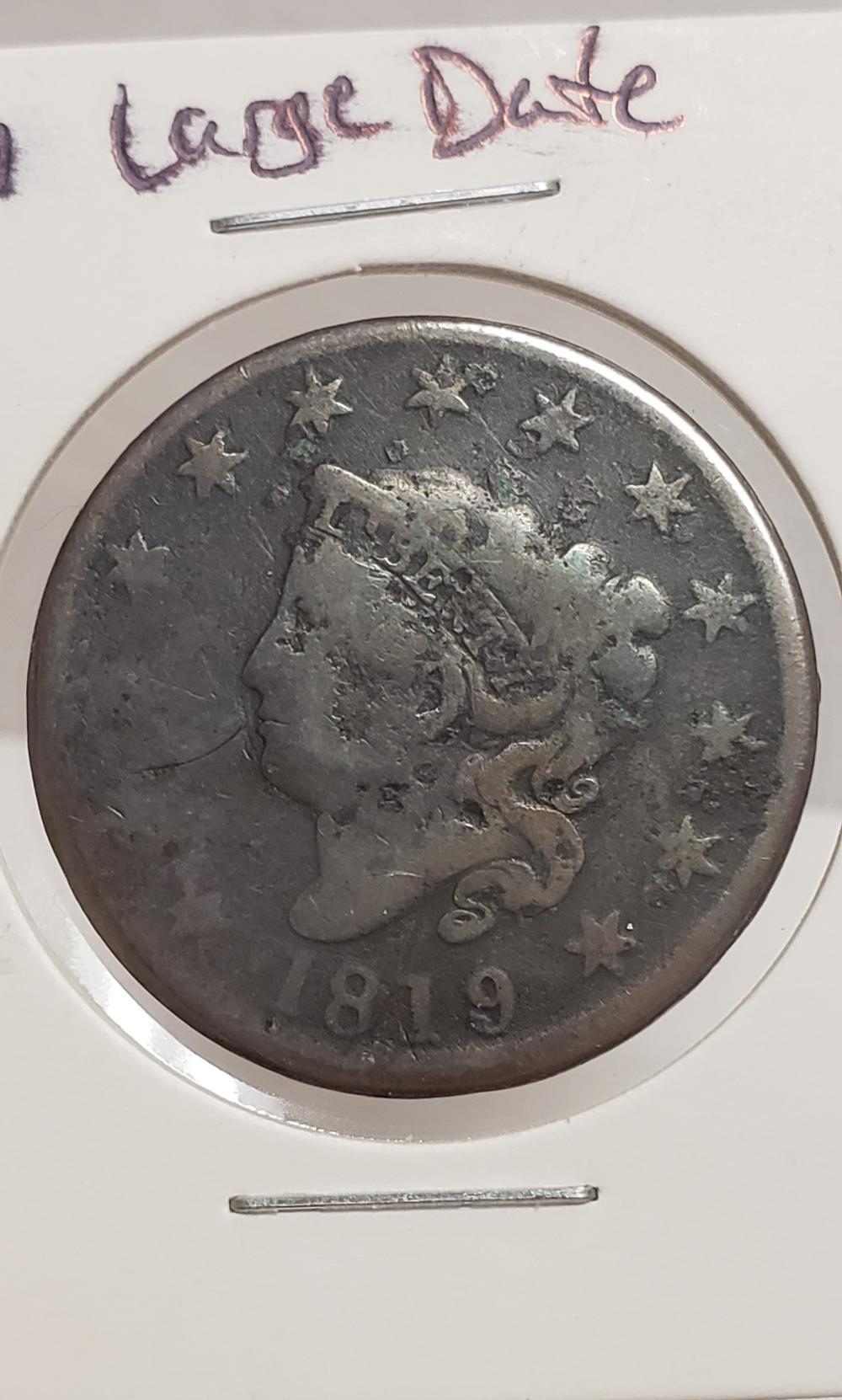 1819 large date Large Cent