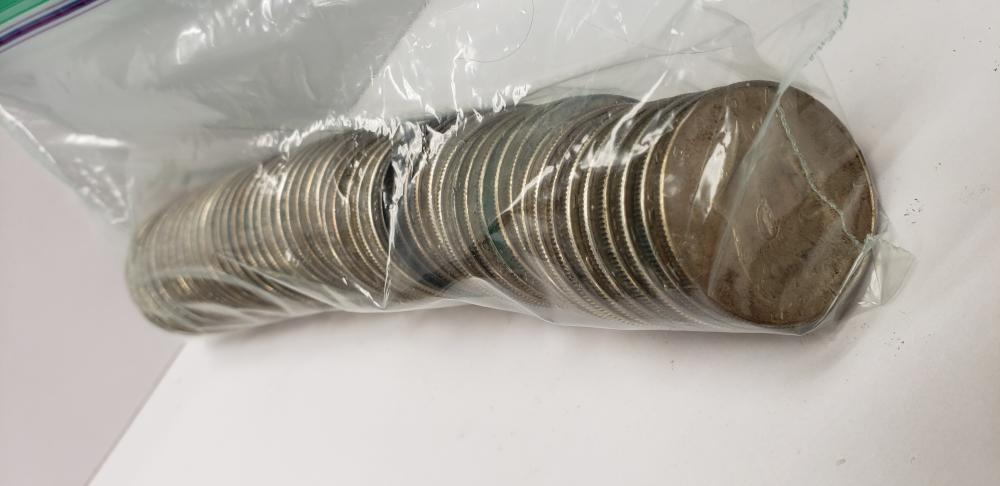 Lot of (50) Fifty 40% Silver Kennedy Half Dollars
