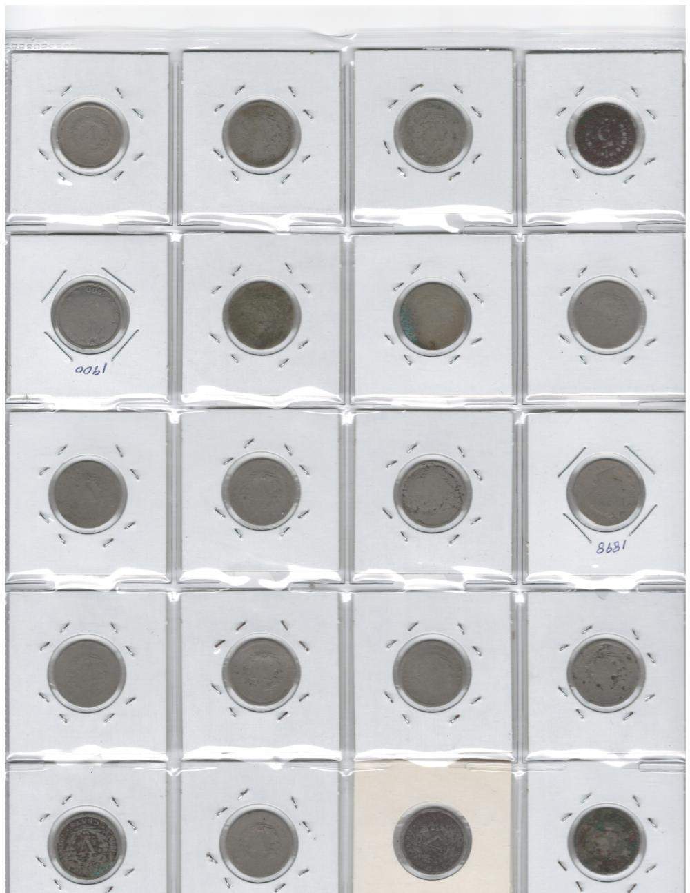 Lot of 20 assorted V nickels