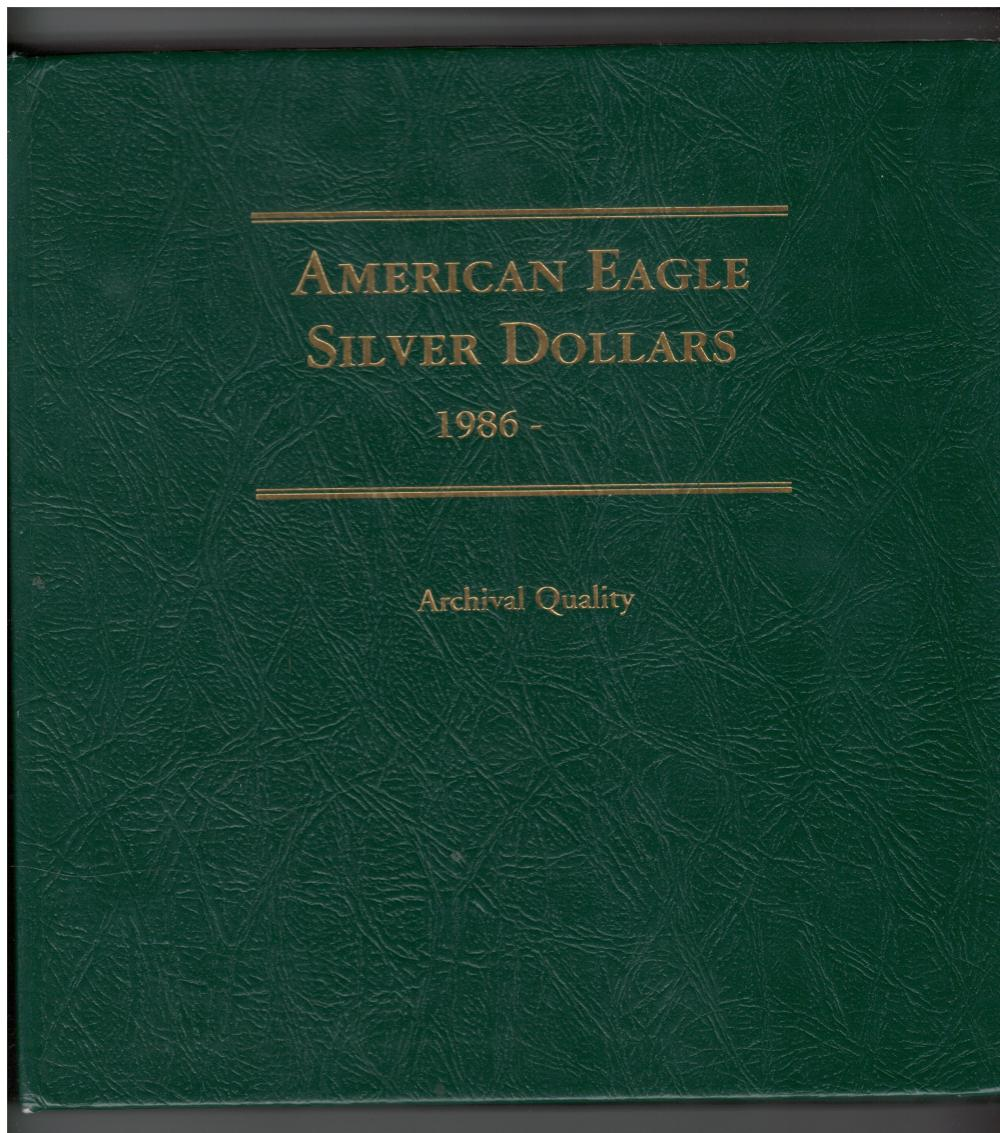 American Eagle Silver Dollar Collection of 33 Coins In Book