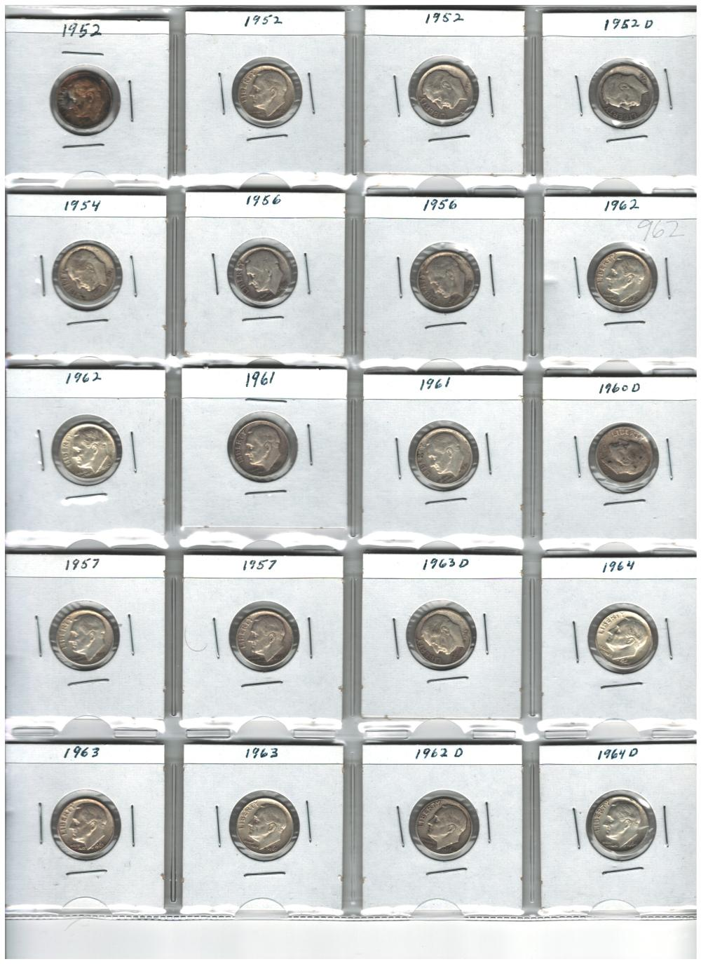 Lot of 20 Silver Roosevelt Dimes