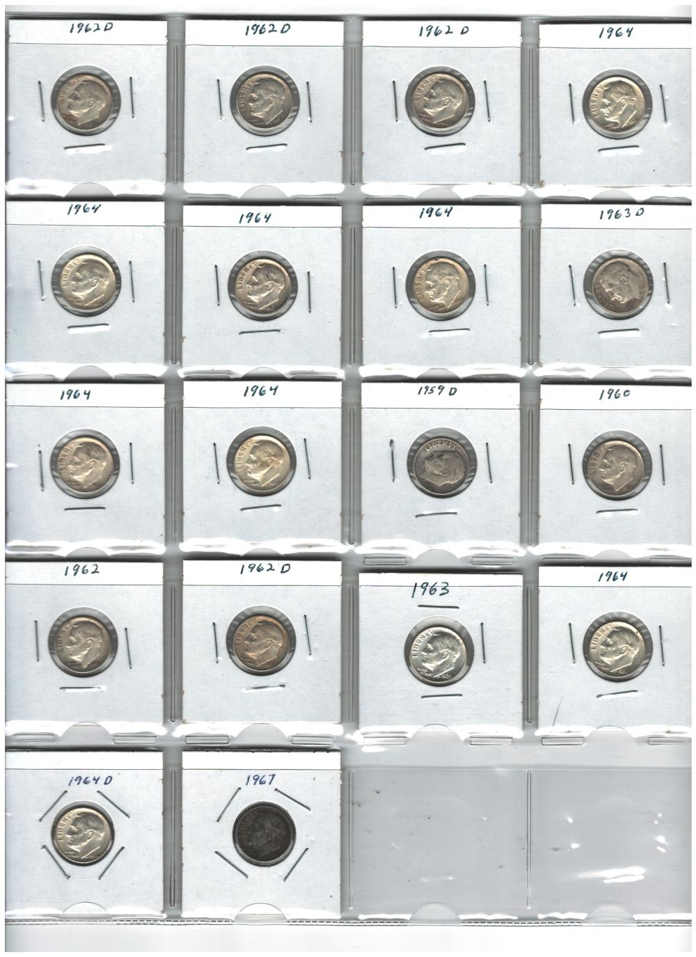 Lot of 17 Silver Roosevelt Dimes