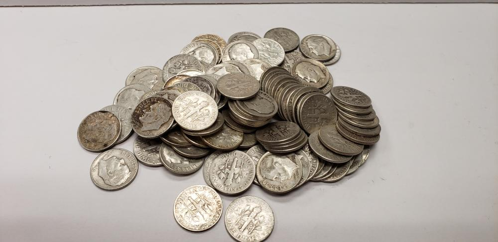 Lot of 112 Silver Roosevelt Dimes