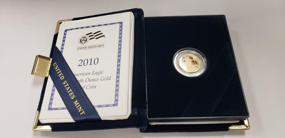 2010 American Eagle one-tenth ounce Proof Gold Bullion Coin