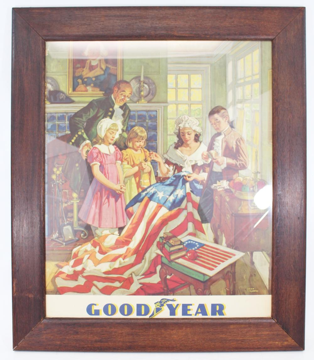 graphic about Betsy Ross Printable Pictures named GOODYEAR DEAN CORNWELL BETSY ROSS PRINT