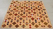 Colorful patchwork quilt. As found. 84