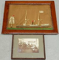 Frame woolwork of a steamship and square-rigger 15