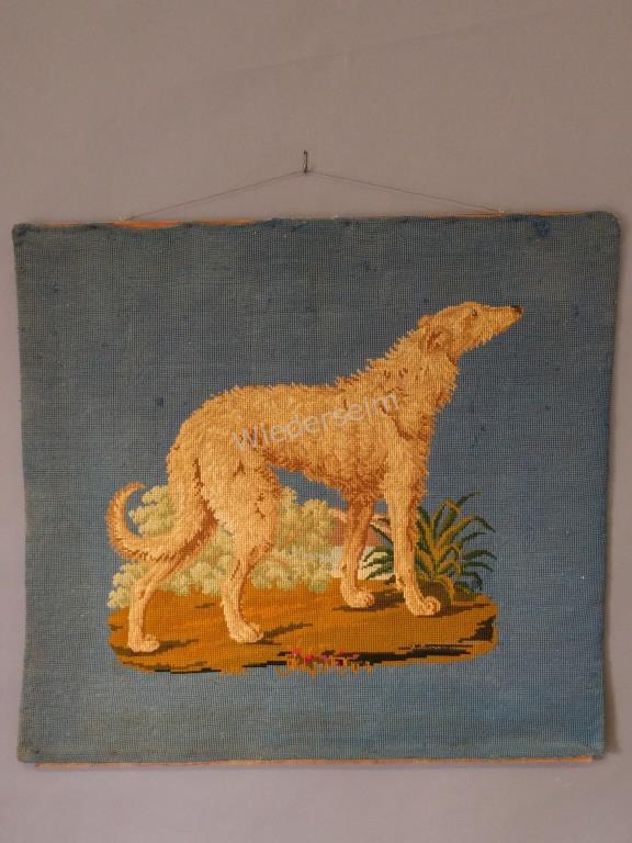 Needlepoint Wall Hanging of Irish Wolfhound