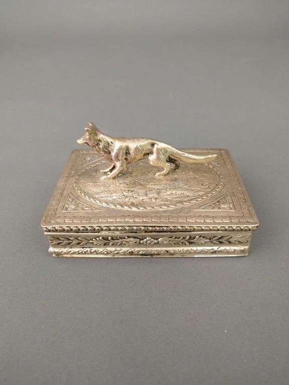 German Silver Trinket Box