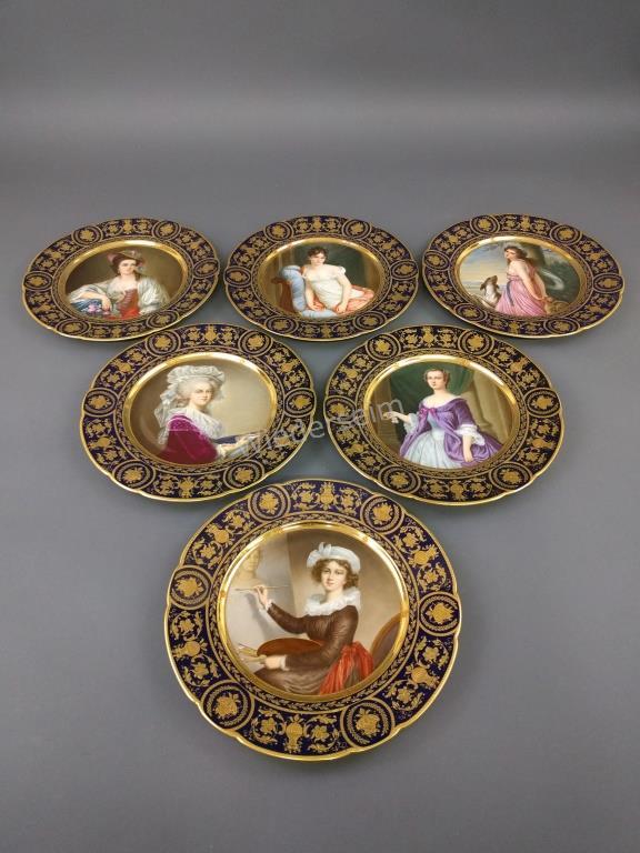 Set of Six Dresden Service Plates