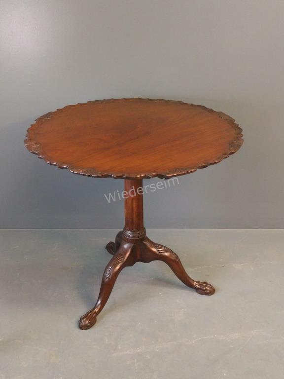English Chippendale Mahogany Tea Table