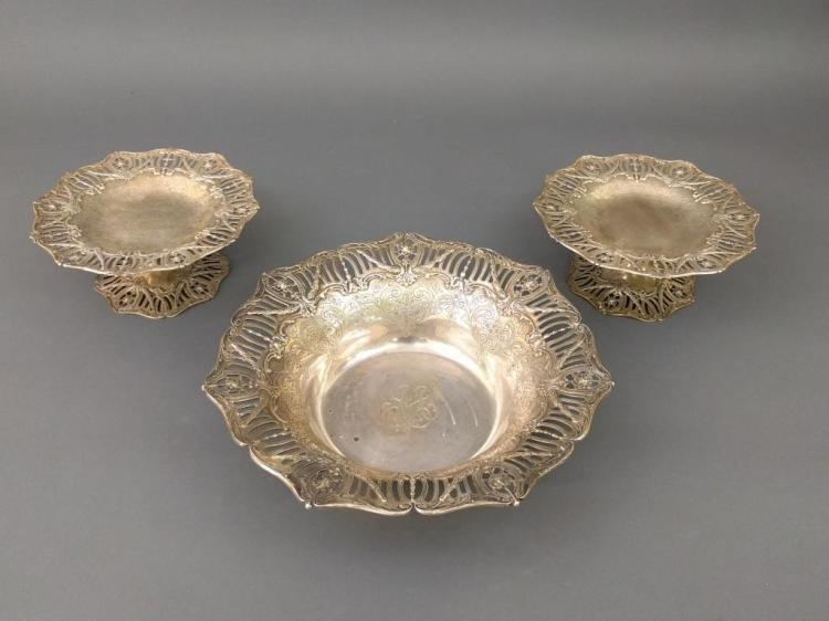 Sterling Silver Three-piece Table Set