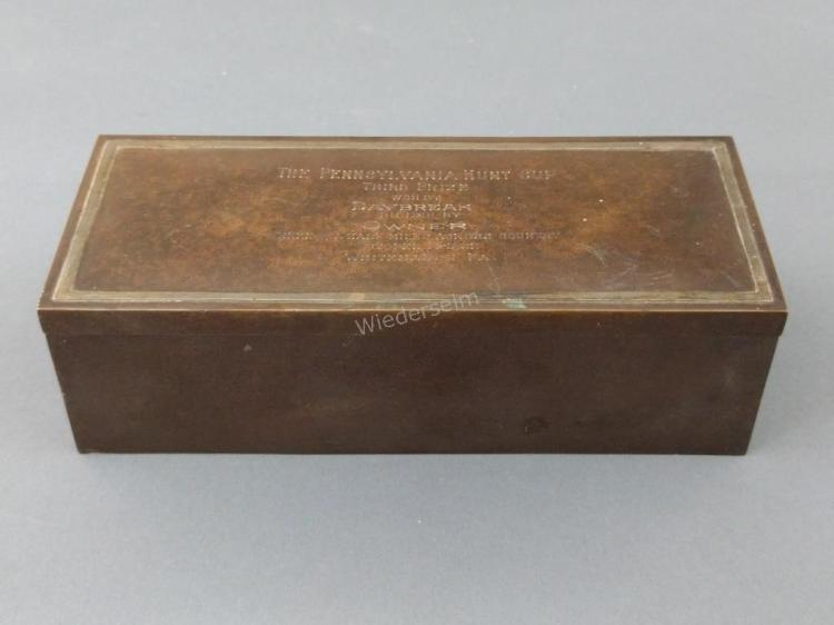 Sterling on Bronze Box