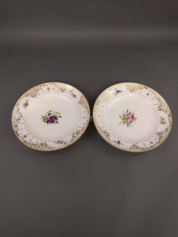 Pair of Paris Porcelain Deep Chargers