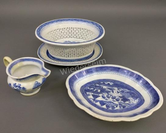 Canton Porcelain Fruit Bowl and Liner, etc.