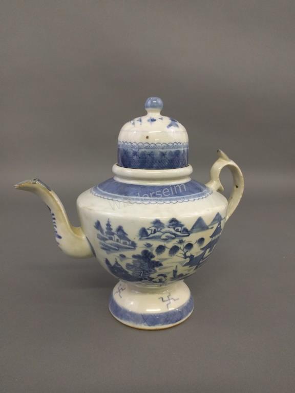 Canton Porcelain Coffee Pot