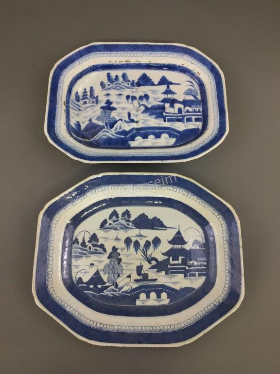 Canton Porcelain Small Well Meat Platter, etc.