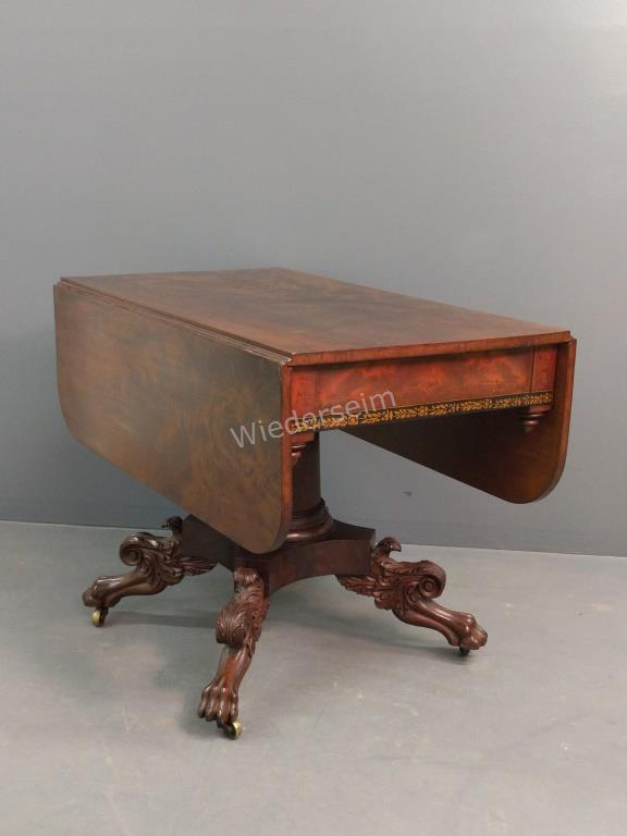 Philadelphia Empire Drop-leaf Table