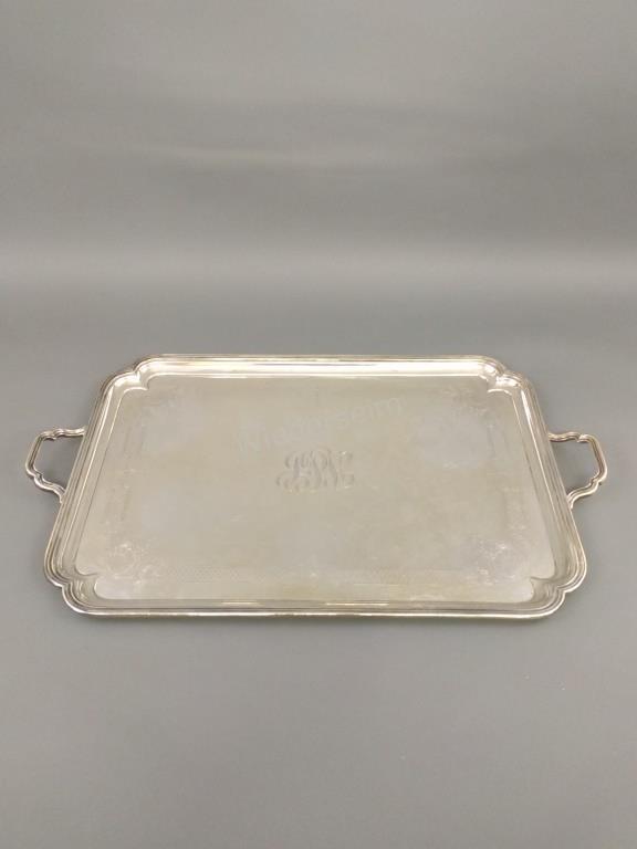 English Silver Tray