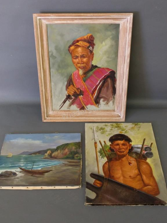 Two Portraits Signed Cagna