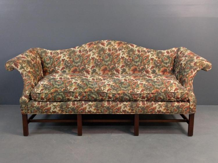 Kittinger Chippendale Style Camelback Sofa