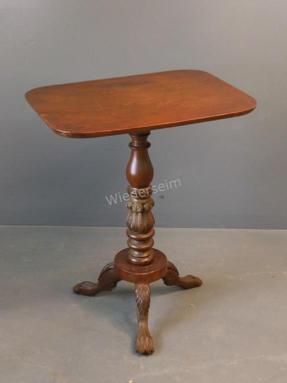 Early Empire Mahogany Candle Stand