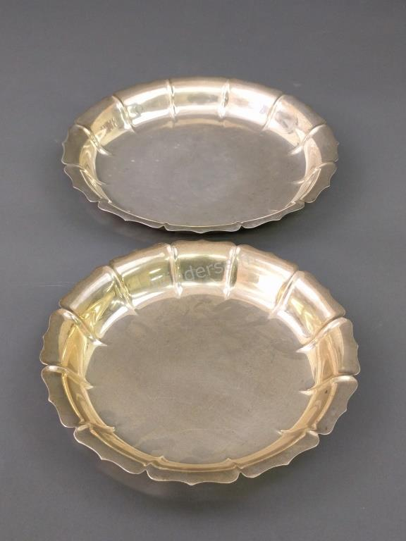 Two Irish Sterling Silver Dishes