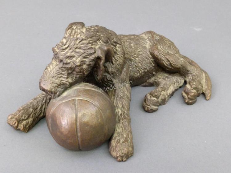 Bronze of Irish Wolfhound by Audrey Fournier