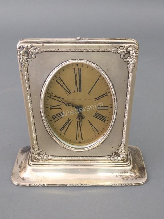 Art Deco Sterling Silver Clock