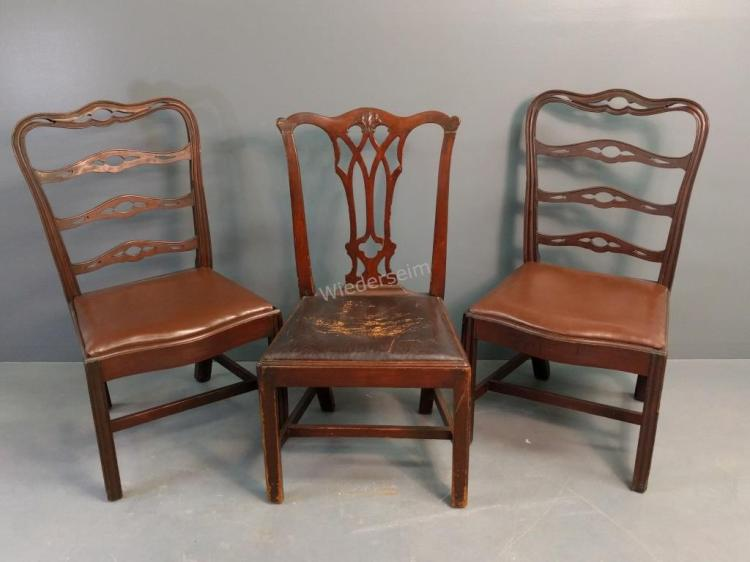 Pair of Philadelphia Chippendale Style Side Chairs