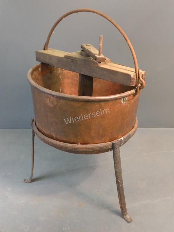 Copper Apple Butter Kettle with Stand