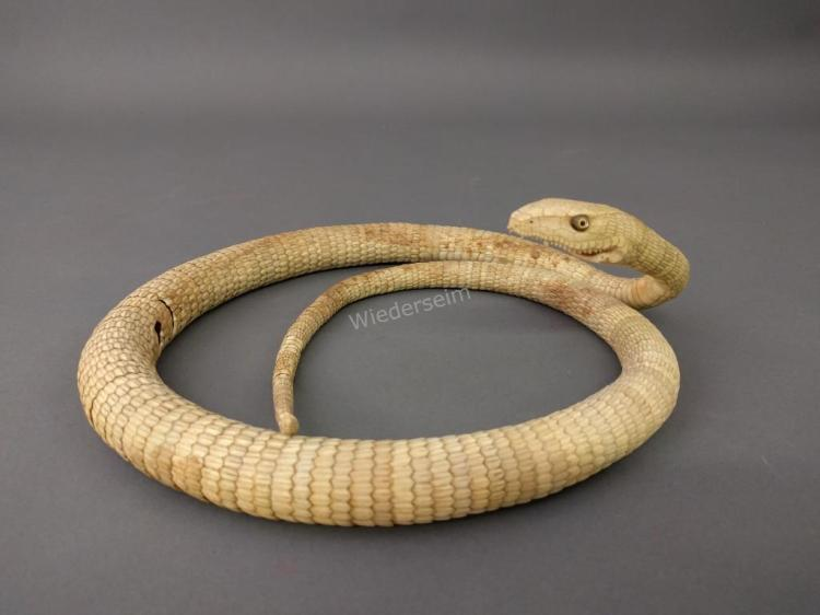 Asian Bone Carved Snake