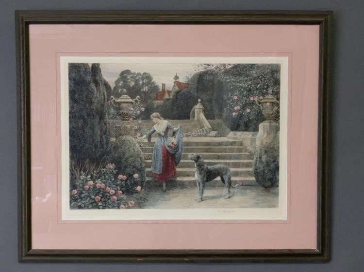 Framed and Matted Etching by Herbert Ducksee