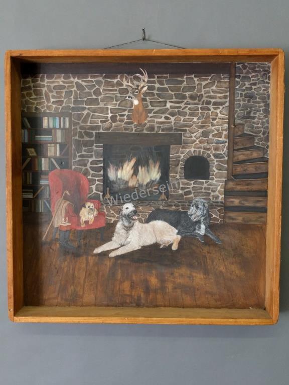Painting of an Irish Wolfhound