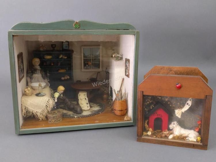 Miniature Room Setting of a Farmhouse, etc.