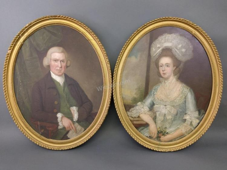 Pair of English Oval Portraits
