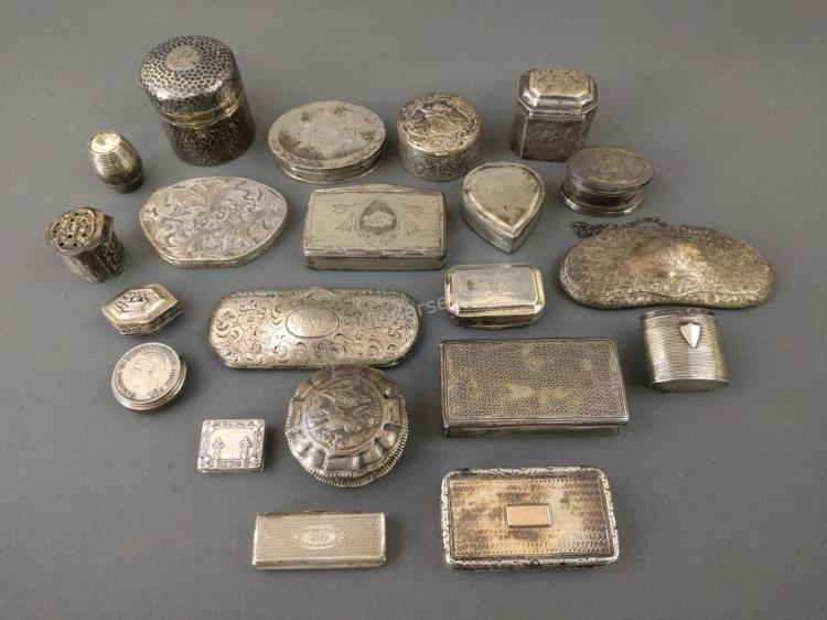 Group of Continental and Sterling Silver