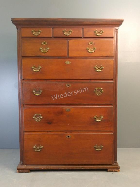 Pennsylvania Chippendale Cherry High Case