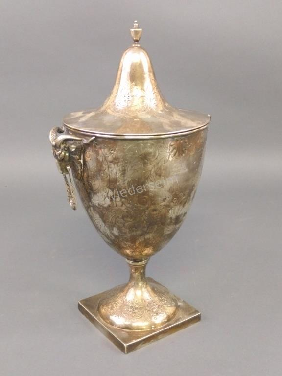 Silver Plate Urn-Form Trophy