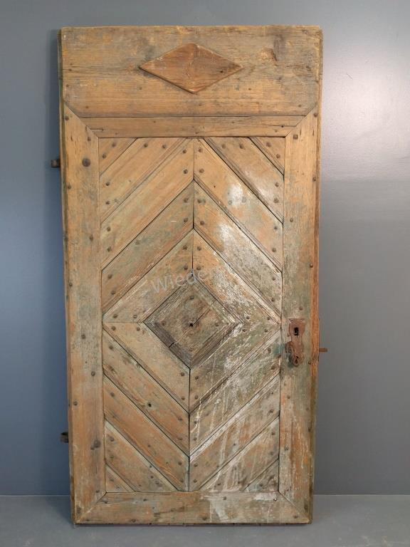 Early Chester County Pine Door with Hardware