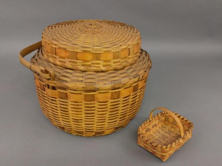 Two Indian Woven Baskets