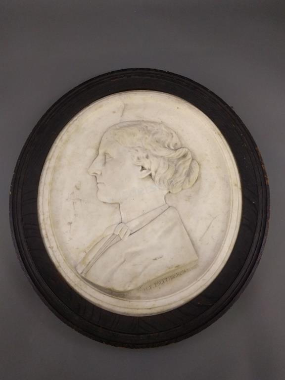 Oval Relief Bust signed