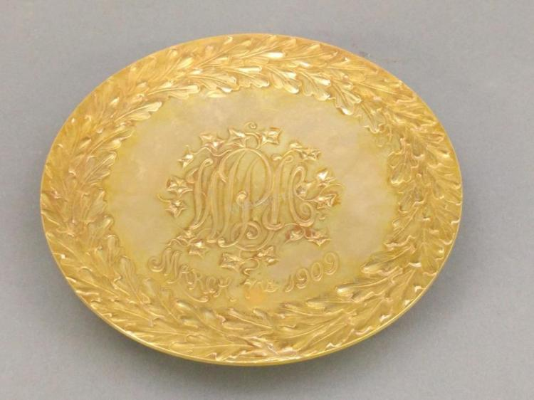 14 karat Gold Soap Dish