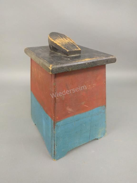 Painted Pine Shoeshine Box
