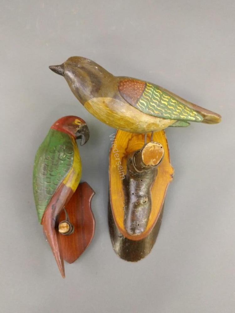 Polychrome Decorated Carved Birds, etc.