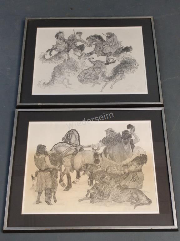 Two Irish Wolfhound Prints