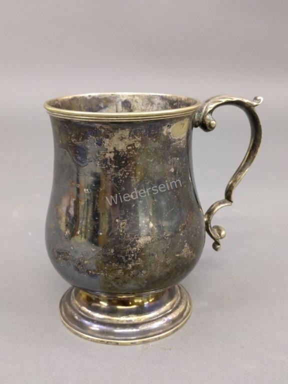 Rare George II Silvered Brass Mug