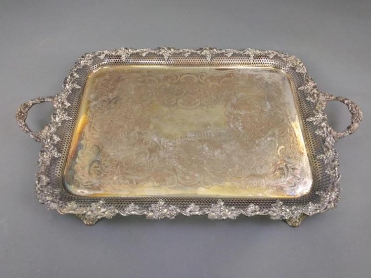 Silver Plate Service Tray