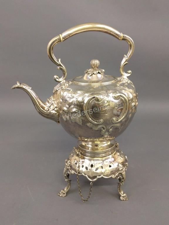 Victorian Silver Plate Kettle on a Stand