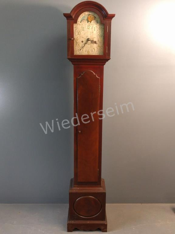 Mahogany Cased Grandmother Clock